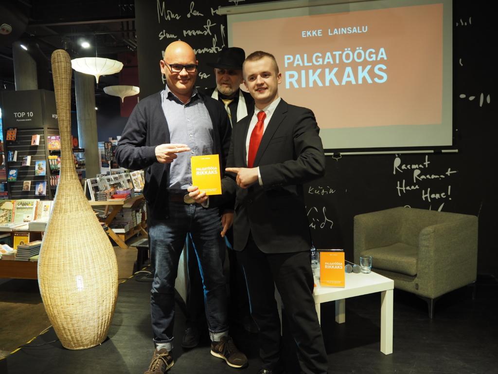 """Ekke Lainsalu. Raamatu """"Palgatööga rikkaks"""" esitlus Solarise Apollos 01.04.2019. Foto: GoodNews"""
